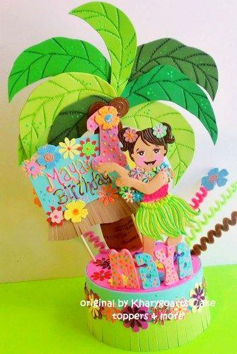 Luau Hawaiian Birthday Cake Topper For Children