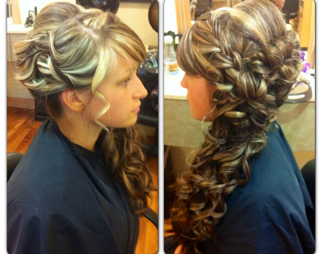 tangled inspired prom side do | my work* hair styles | prom