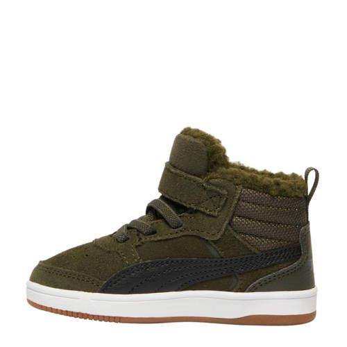 Puma Rebound Street V2 suède sneakers groen - Groen en Jongens