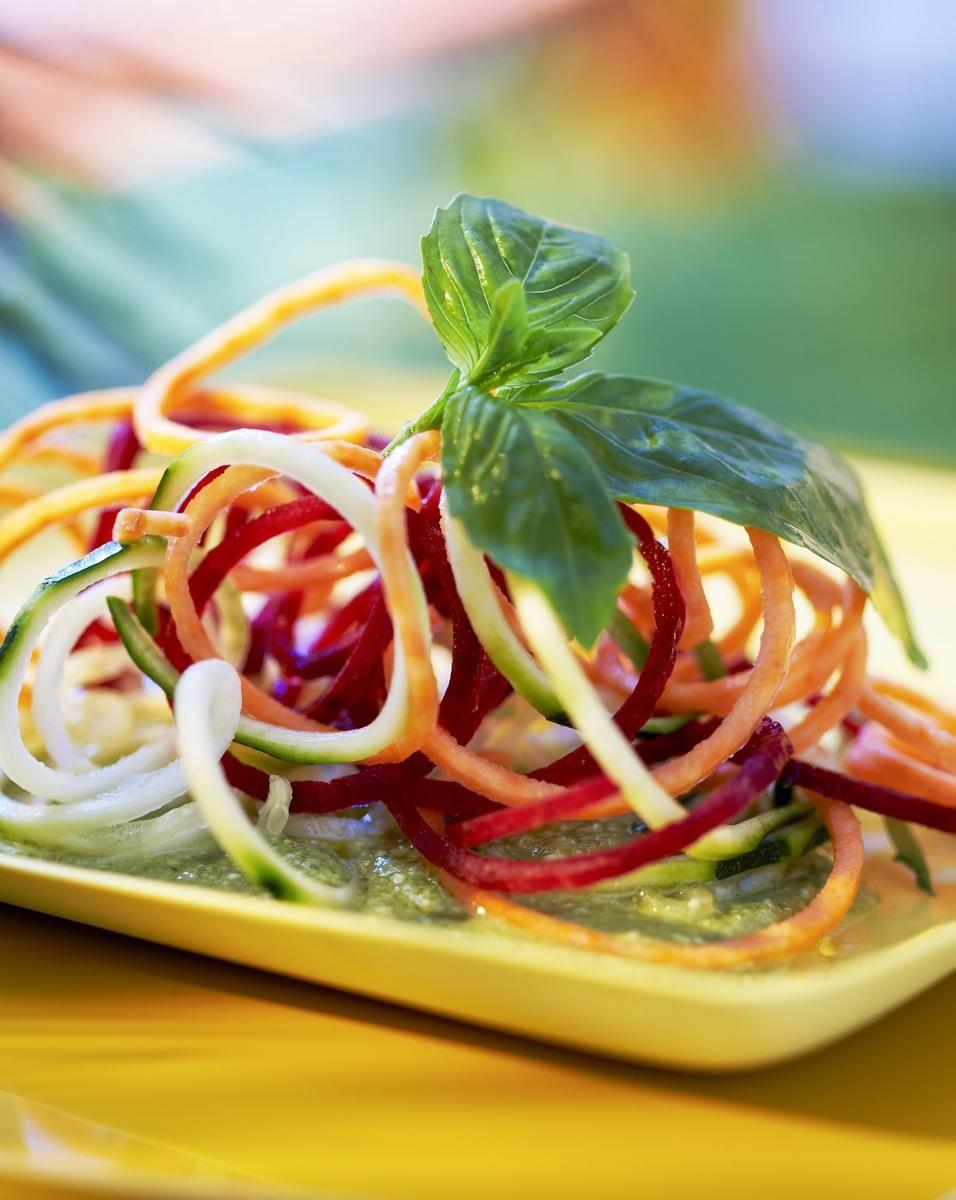 Spaghettis de légumes multicolores | Recette | Spaghetti ...