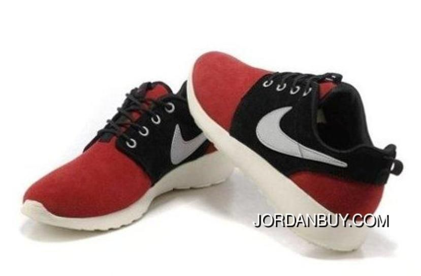 check out 6278f 1ad56 Cheap Shopping Nike Roshe Run Mens Shoes Red Black White