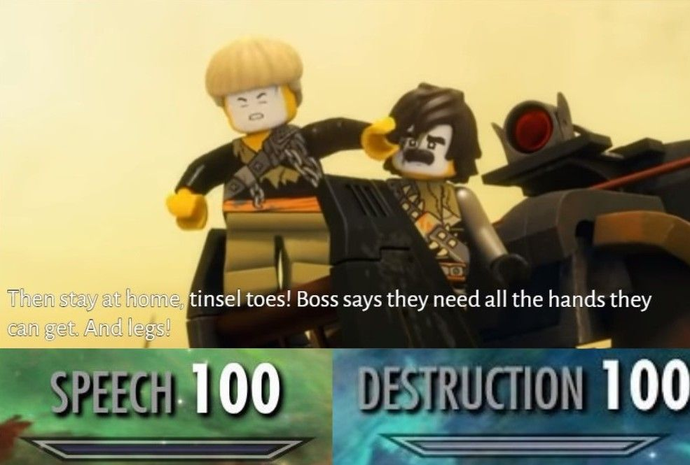 Https Cdn Discordapp Com Attachments 406961526306766869 464892008876605450 Tinsel Toes Jpg Ninjago Memes Lego Ninjago Ninjago