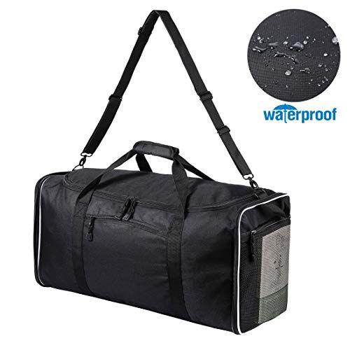 8e6e7e558476 Domila Travel Duffel Bag 21   Large Unisex Weekender Bag TSA Friendly Carry-on  Luggage Tote Overnight Bag (Black in 2019