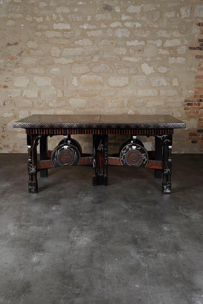 Carlo BUGATTI (1856-1940) Exceptionnelle Table De Salle à