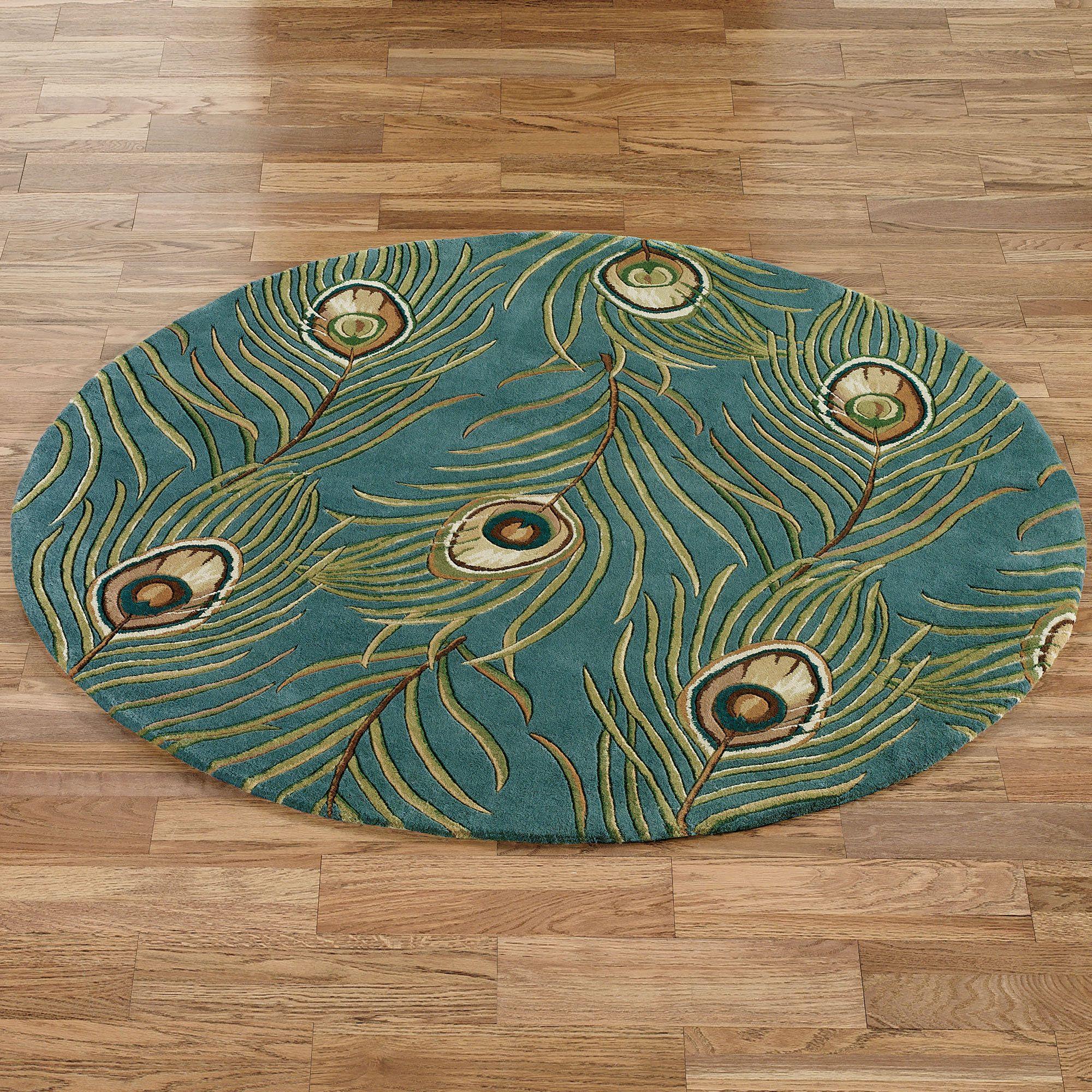 bath bathroom rug cp peacock