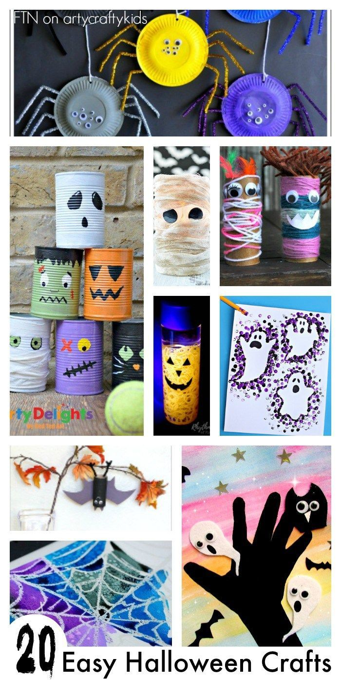 20 Easy Halloween Crafts Halloween crafts, Easy