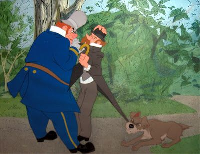 POLICEMAN   TRAMP  Lady and the Tramp 1955  LADY AND THE