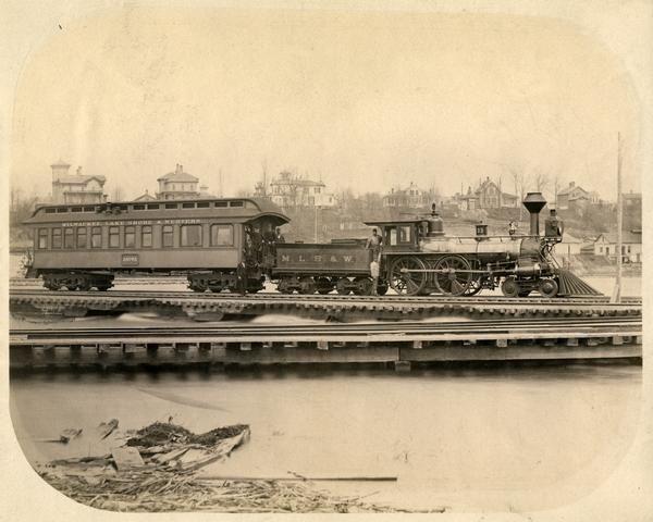 Milwaukee, Lake Shore & Western Railroad | Photograph | Wisconsin Historical Society