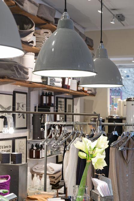 great shop interior using industrial elements in a clean contemporary way - Butiken | Alvhem Mäkleri och Interiör