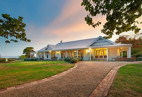 Farm House Facade House Australian Country Houses Country Style Homes