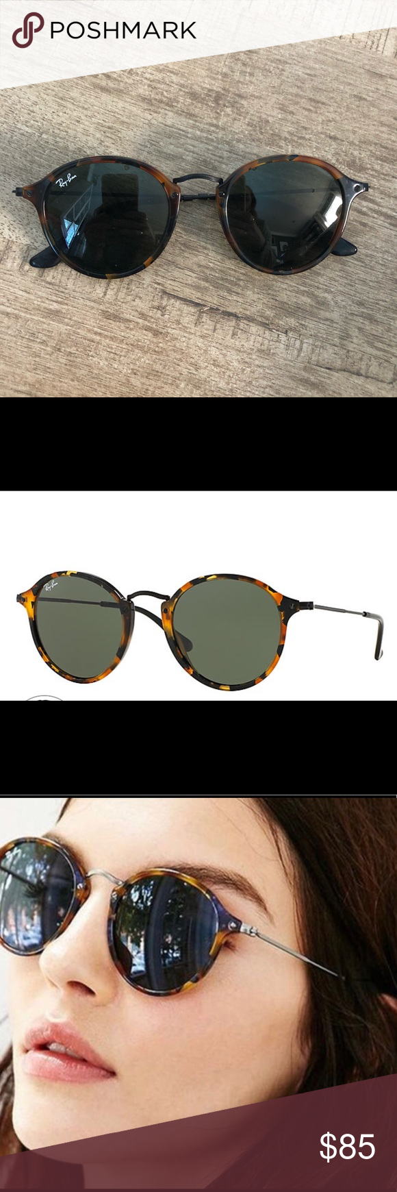 85b7ccf919a Rayban round fleck unisex sunglasses RB2447 Rayban round fleck have only  worn a few times.