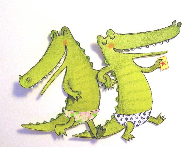 Последним днем, крокодил смешной рисунок