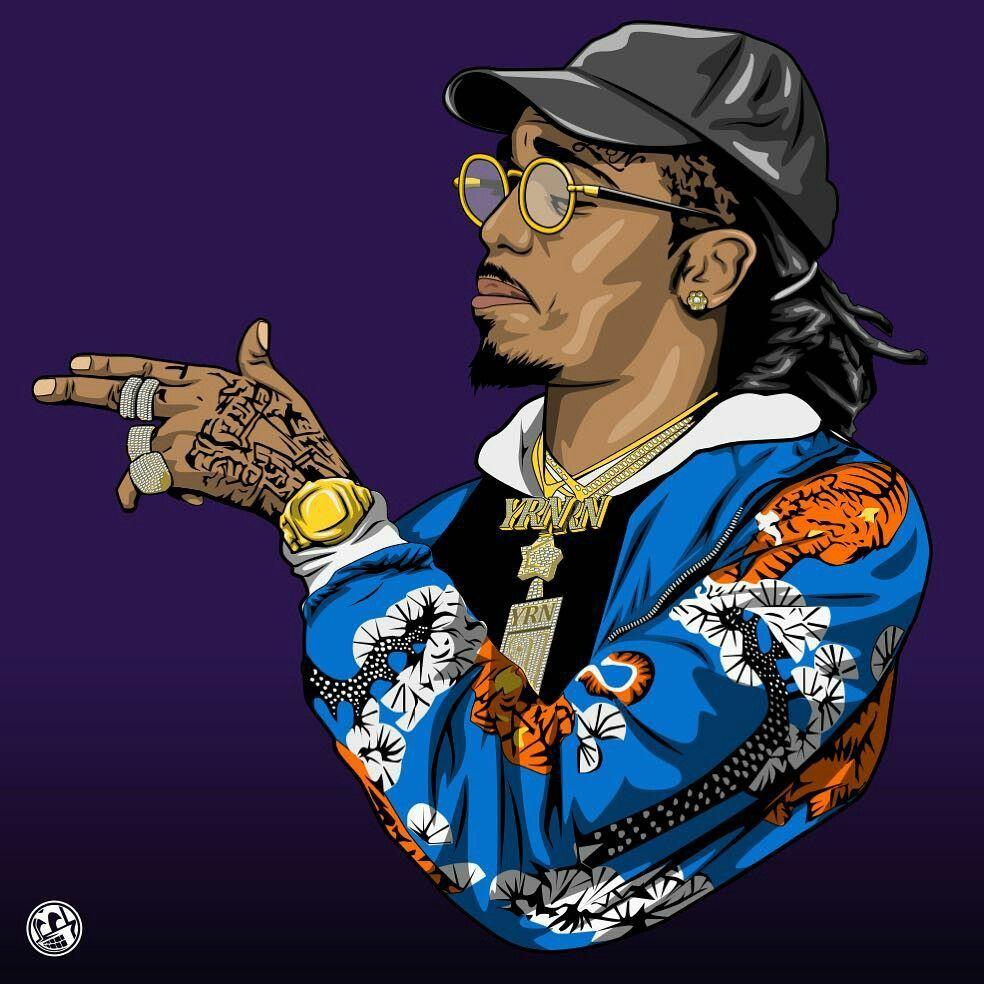 Pin By Nia Terrell On Art Rapper Art Hip Hop Art Cartoon Wallpaper