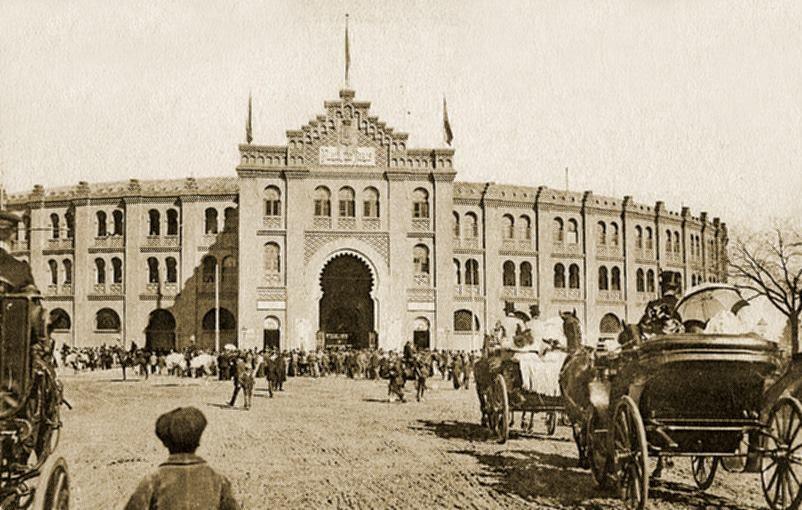 1874 se inauguraba la plaza de toros de goya de estilo for Donde esta la comunidad de madrid
