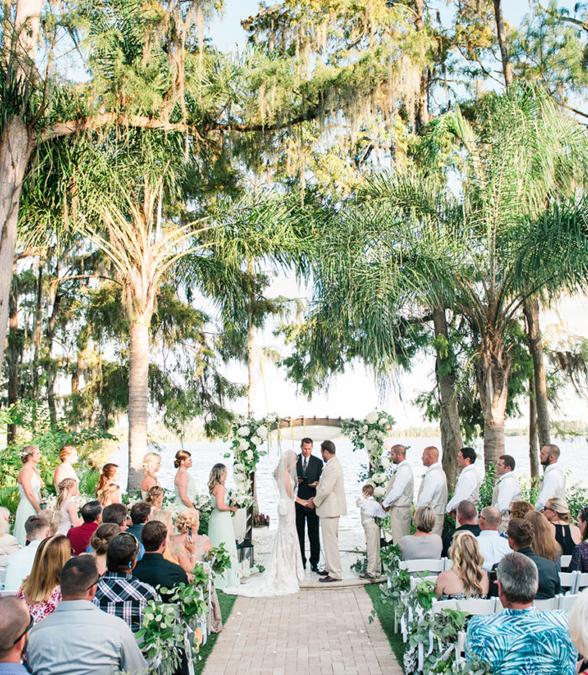 Outdoor Wedding Ceremony Orlando: Orlando Luxury Beach Wedding! #BridalParty #MrAndMrs