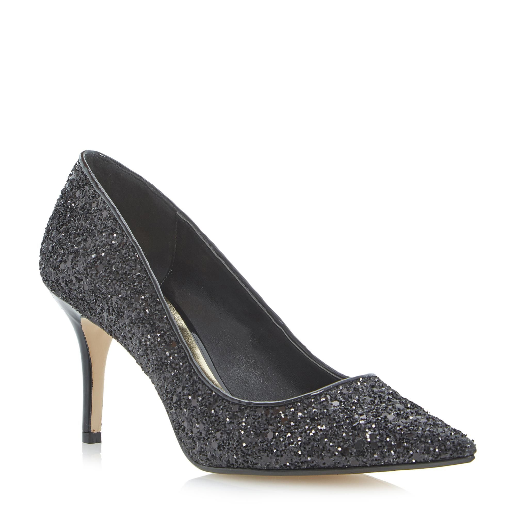 Pointed Toe Mid Heel Court Shoe