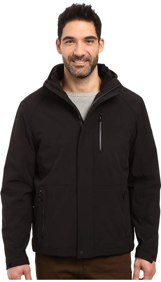 e610ddc2b82 Calvin Klein Softshell Hoodie with Faux Sherpa Lining Men s Jacket ...