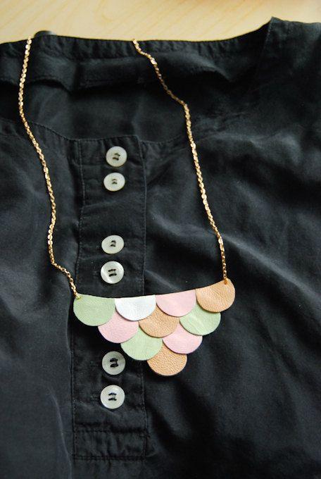Leather Petals Necklace