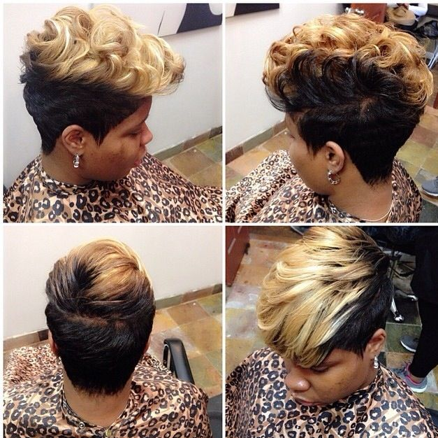 Pompadour Shave Hair Black Woman Short Bob Hairstyles Hairstyle Hair Styles