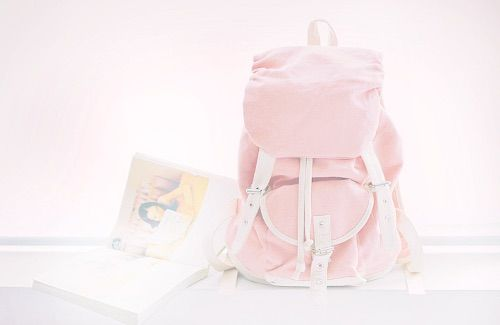 Image via We Heart It https://weheartit.com/entry/137007908/via/28204677 #backpack #book #cute #girly #pink