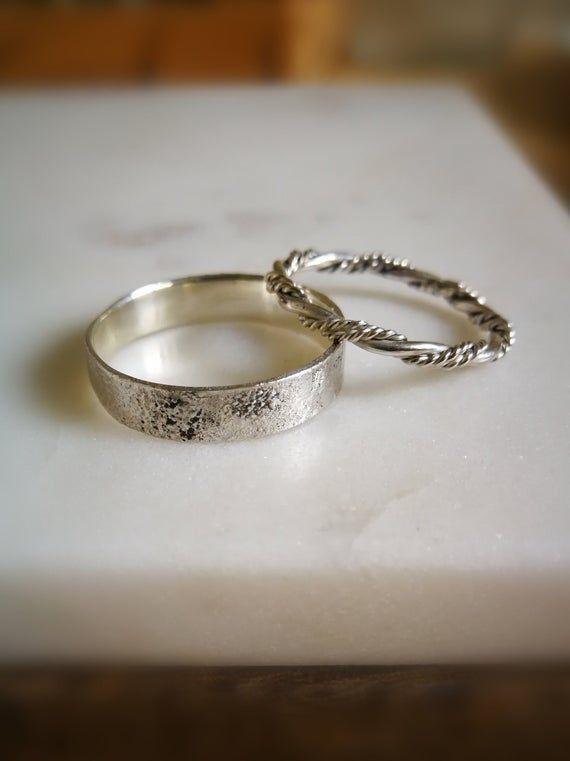 Wedding bands Silver Rings Unique Anillos hombre Celtic wedding rings wedding rings set wedding band set viking wedding band ring celtic