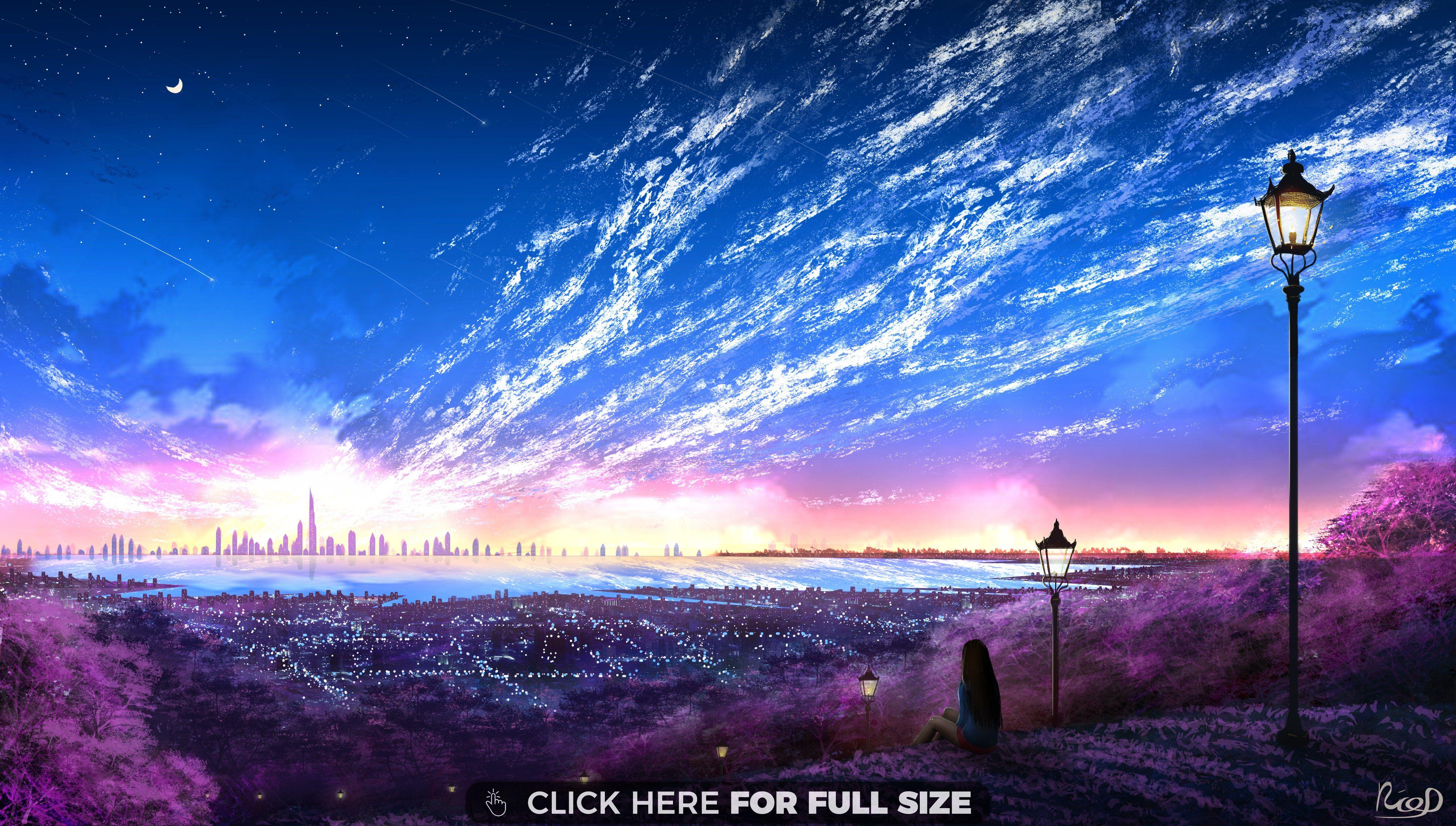 Feather Clouds 4k Wallpaper Scenery Wallpaper Hd Anime Wallpapers Anime Scenery Wallpaper