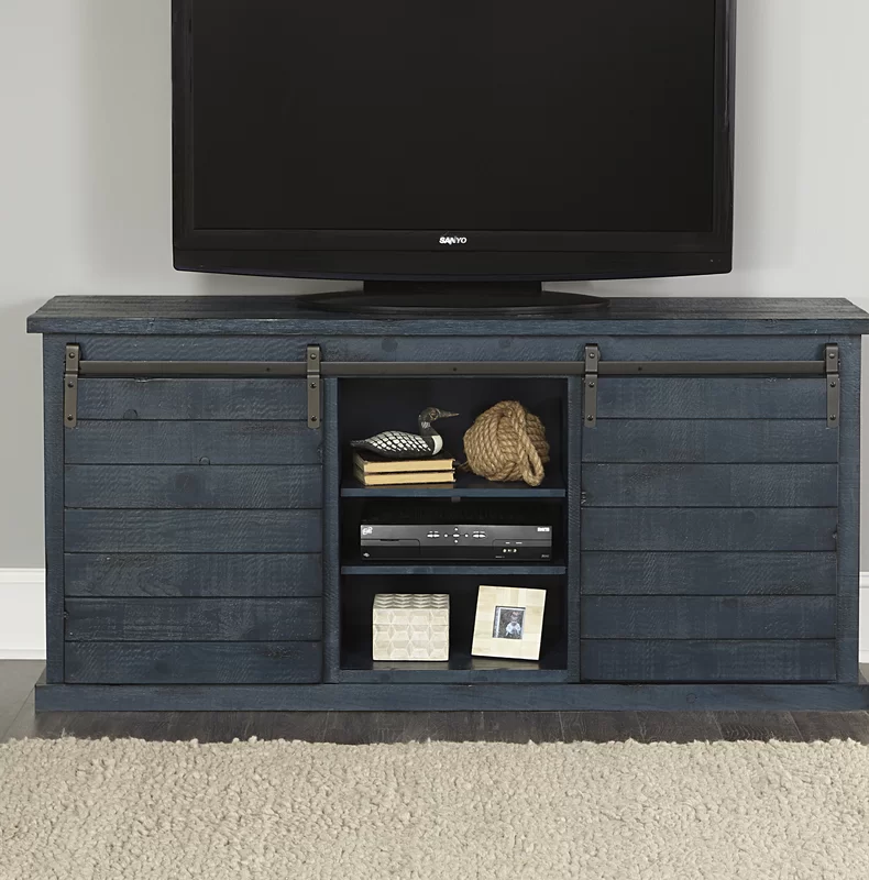 Gracie Oaks Laursen Solid Wood TV Stand for TVs up to 75