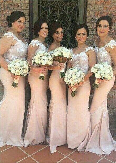 Vestidos De Dama De Honor Color Rosa Palo