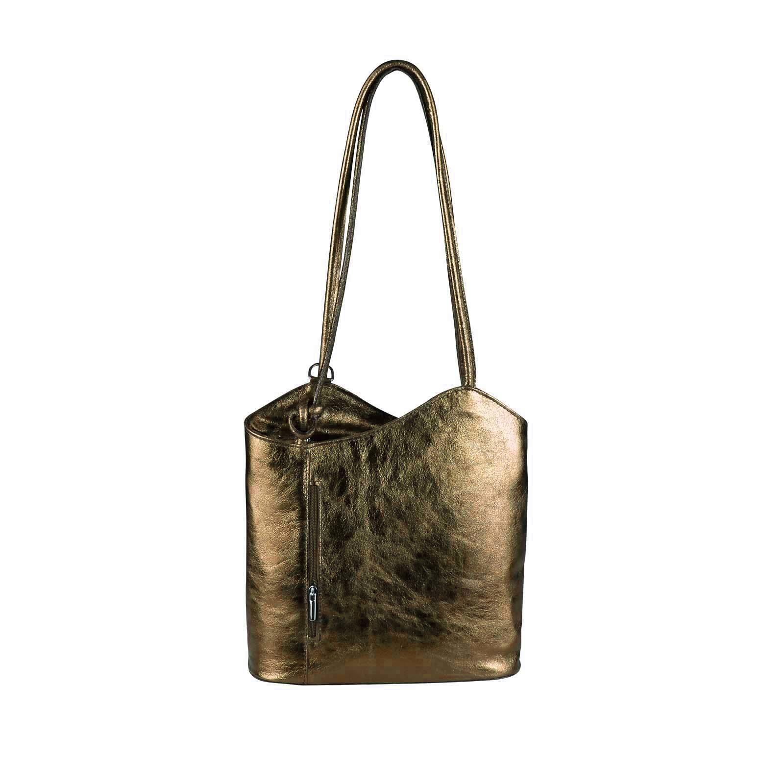 89073051bac1a OBC ITAL DAMEN LEDER TASCHE RUCKSACK Handtasche Umhängetasche  Schultertasche Shopper Henkeltasche Ledertasche Backpack (Weiß)