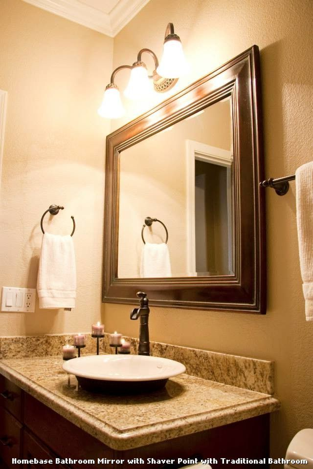 Homebase bathroom mirror with shaver point tablecloth homebase bathroom mirror with shaver point mirror with lightswall mozeypictures Gallery