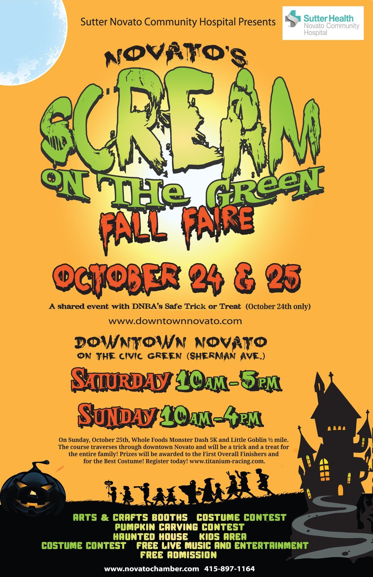 Scream on the Green a Fall Faire Event, Fall, Downtown