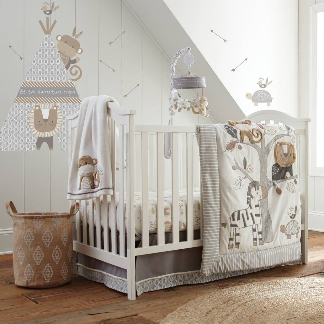 Baby cribs in kenya - Product Image For Levtex Baby Kenya 5 Piece Crib Bedding Set In Grey 1 Out