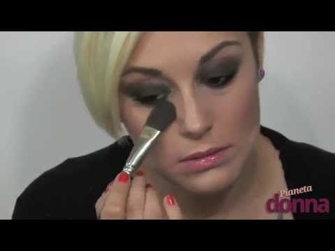 come fare trucco smokey eyes nero - tutorial #makeup