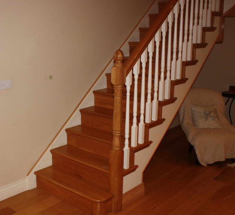 Wooden Handrail For Modern Stairs Wood Stair Banisters And