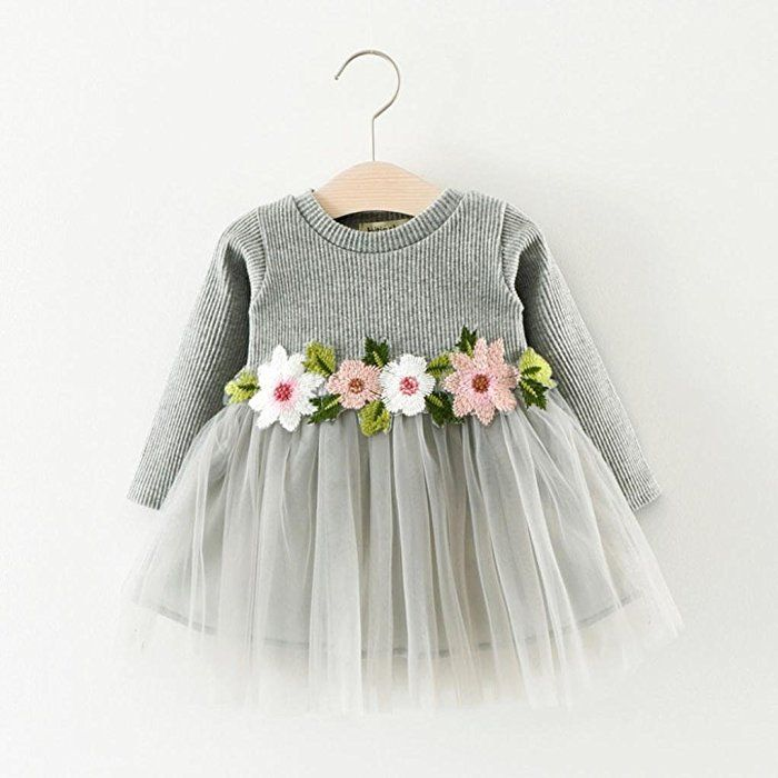 a948652dcc SMARTLADY Bebé Niña Floral Tutú Princesa Vestidos de Manga larga Otoño  Invierno Ropa (0-6 meses