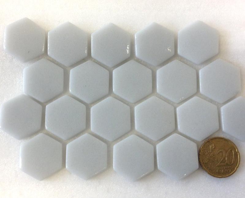 Gris Perle Hexagone Mosaique Emaux Brillant Par 2m Avec Images