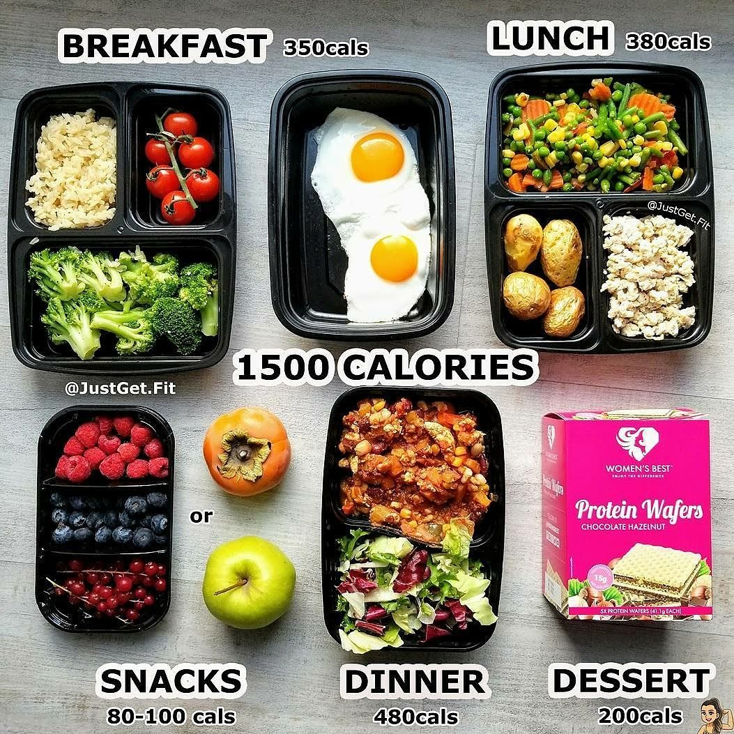 1500 Meal Plan Example – Food for a day
