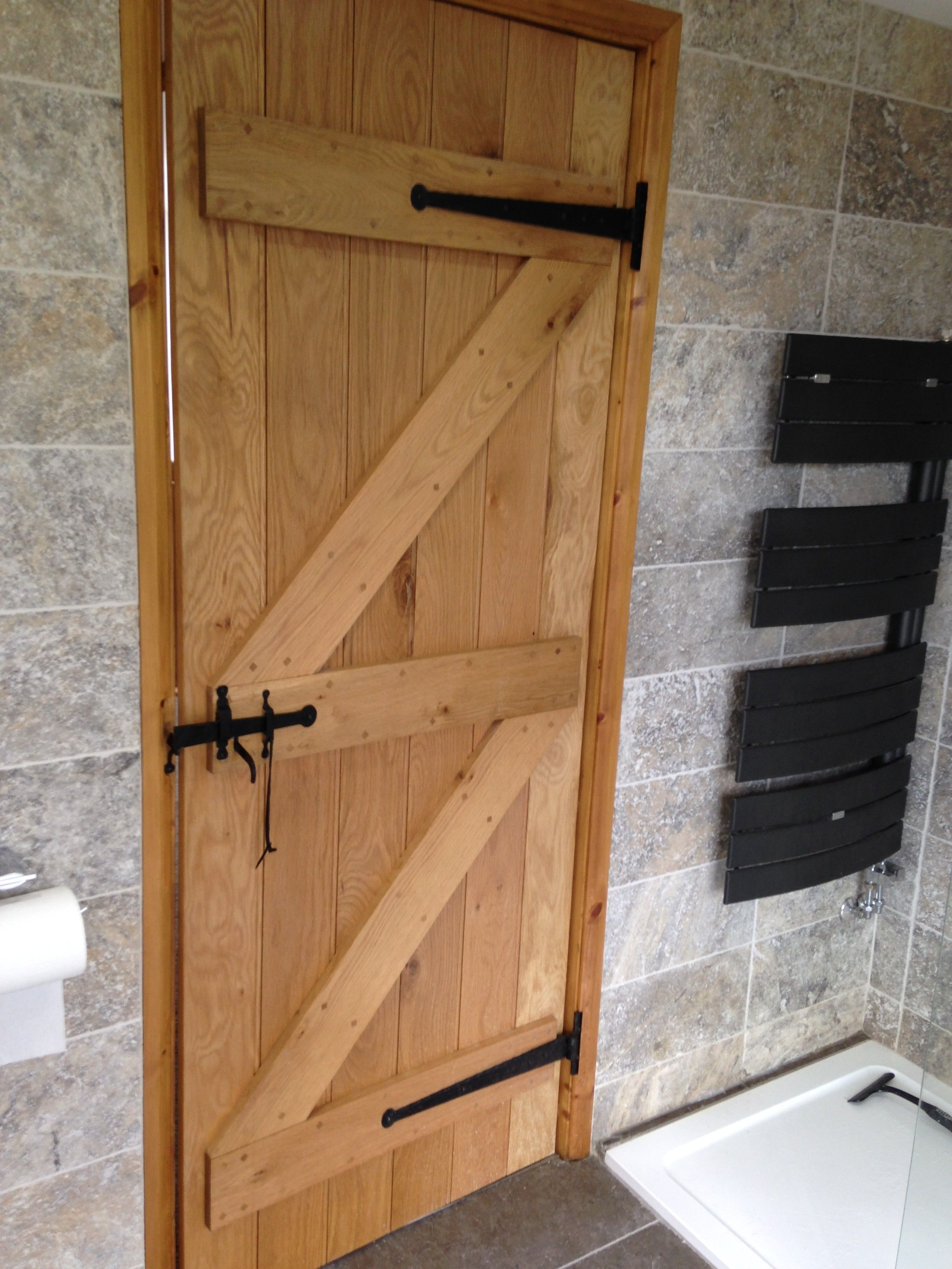 Solid Oak Ledge And Brace Door Internal Cottage Doors