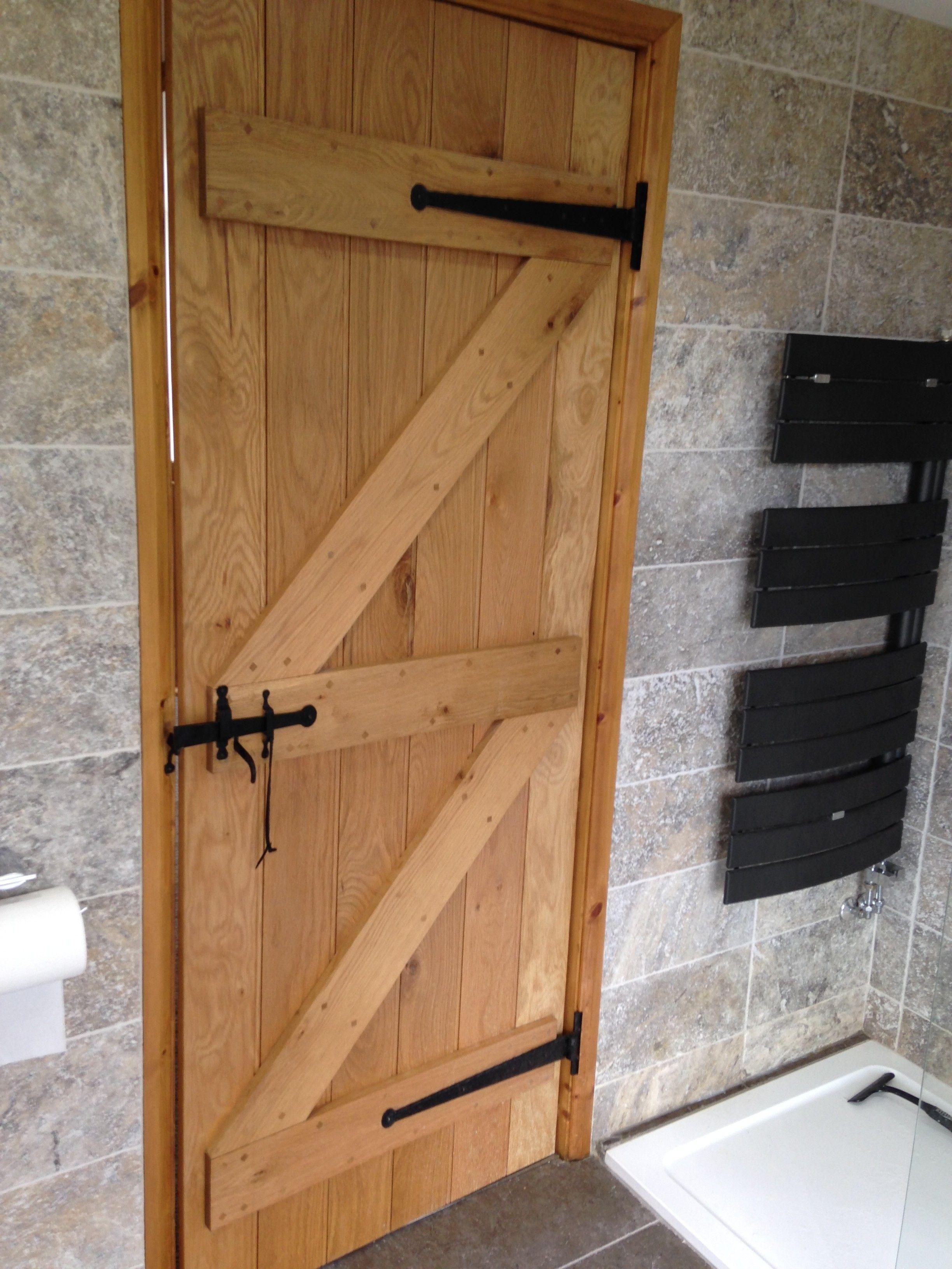 Ledge and brace oak doors - Solid Oak Ledge Brace Doors Oak Barn Door