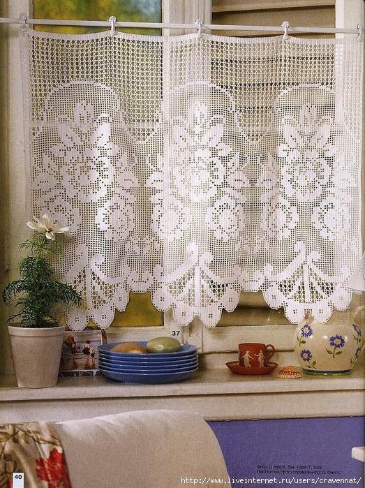 firanka / zazdroska / filet / szydełko // Gardine Filet häkeln ... crochet - cortinas - curtains