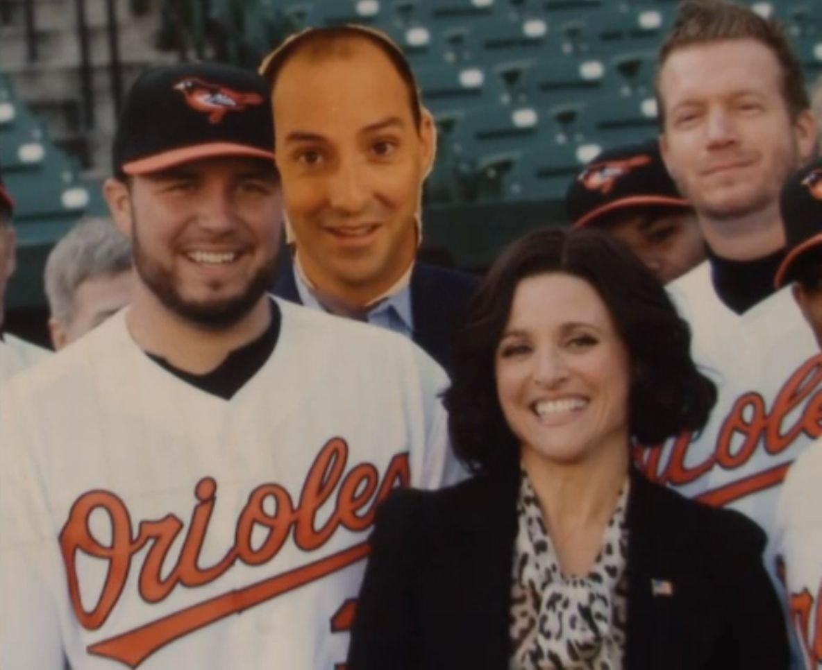 My favorite frame from Veep season 1 - Episode 6 'Baseball' with