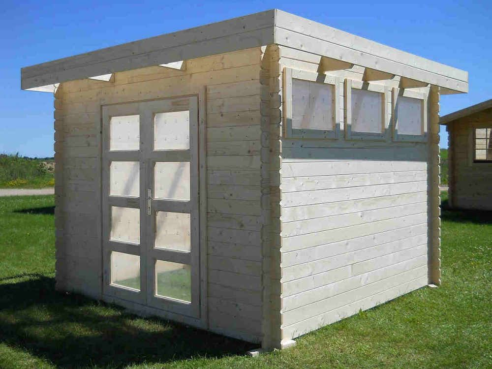 Elegant Solid Build Moderna 10X10 Wood Shed $3,500