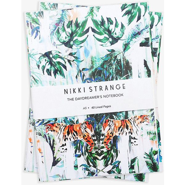 Tiger Jungle Notebook (Set of 2) ($18) ❤ liked on Polyvore featuring home, home decor, stationery and notebooks