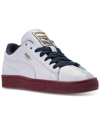 37c46a236a39 Puma Women s Basket Casual Sneakers from Finish Line - White 7.5 ...