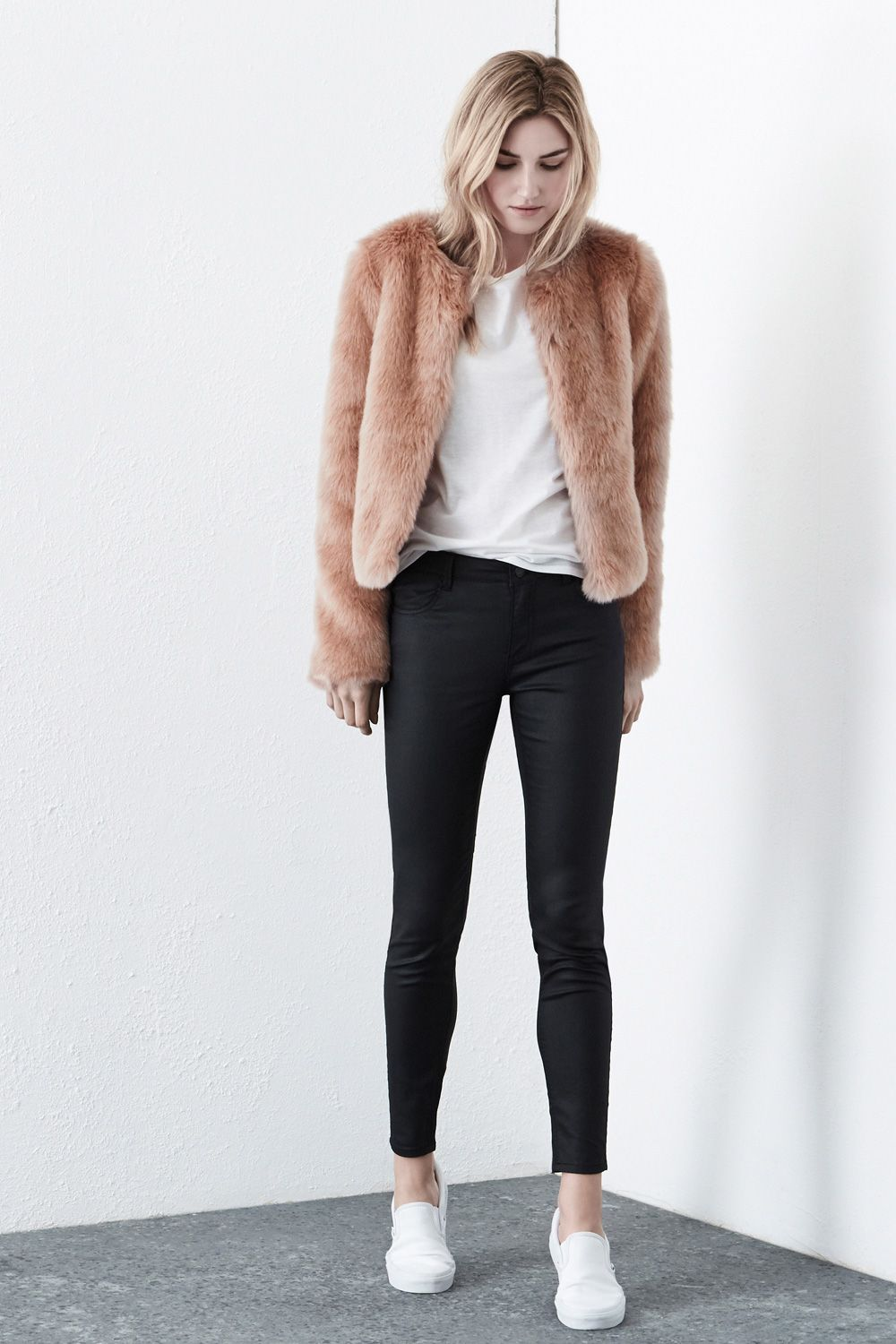 Warehouse Faux Fur Coat | Down Coat