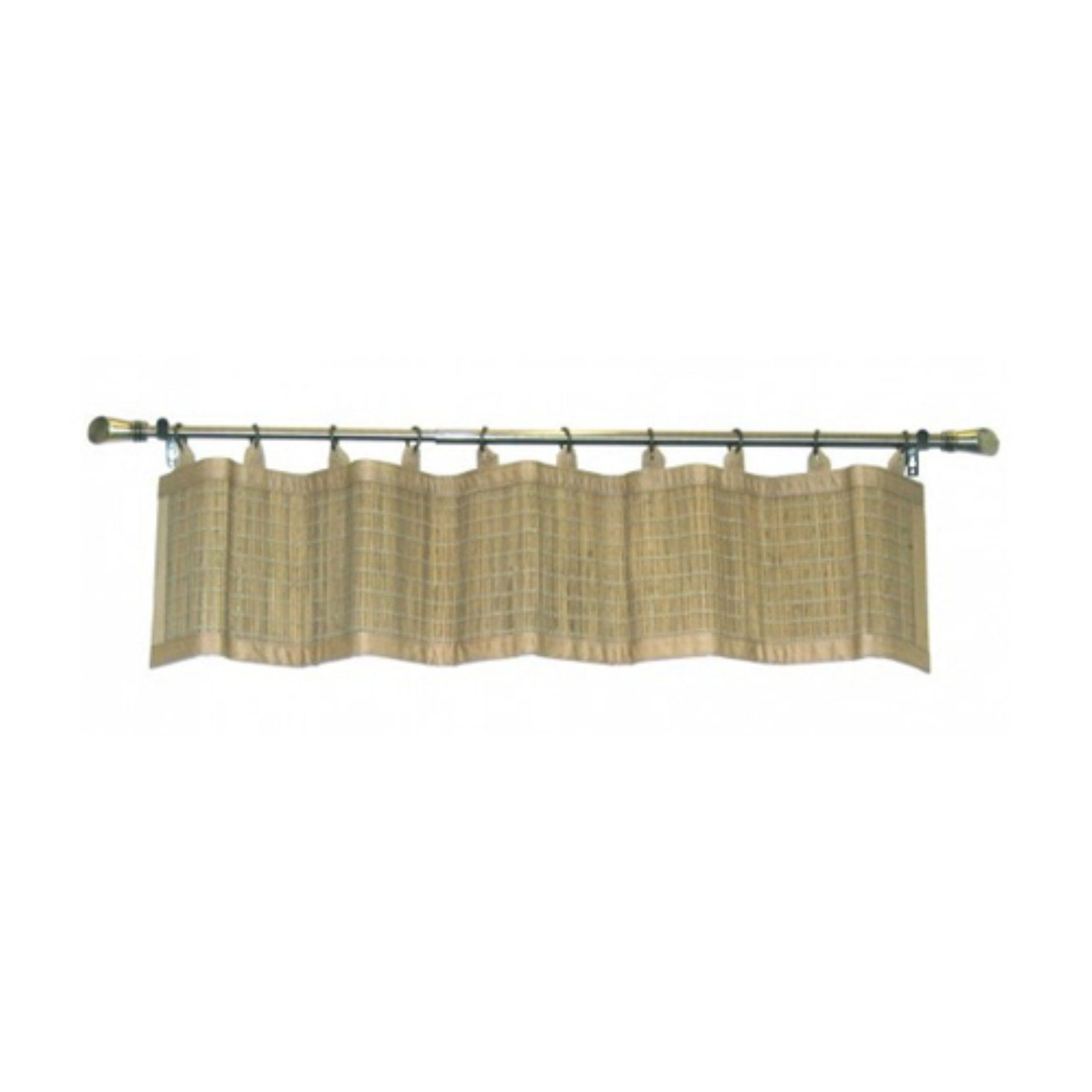 Versailles Home Fashions BPU147212-9 Bamboo Wood Valance with Grommets 72-Inch x 12-Inch Teak