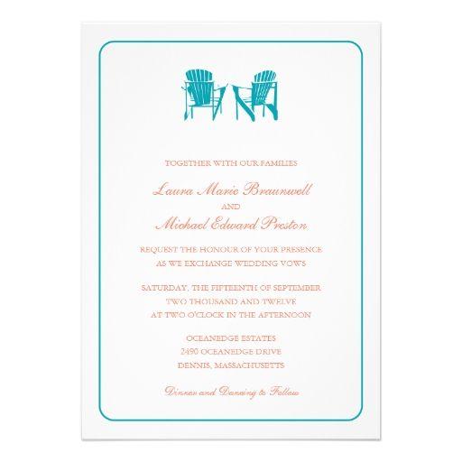 Two Adirondack Chairs Wedding Invite