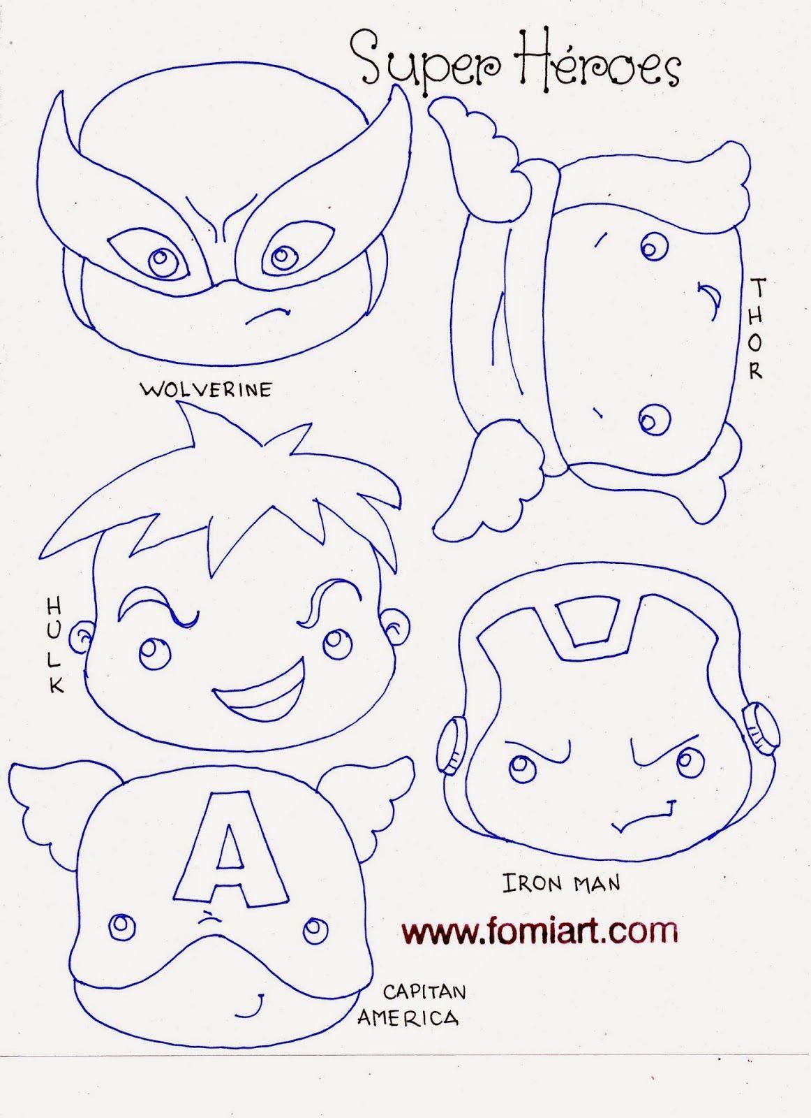 Patrones de Super Héroes Avengers en Miniatura | Fomiart | Fofuchas ...