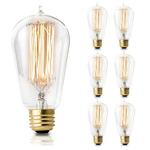 6 Pack Hudson Lighting Edison Bulb St58 230 Lumens Https Www Amazon Com Dp B01jo5gnse Ref Cm Sw R Pi Edison Light Bulbs Filament Bulb Lighting Bulb