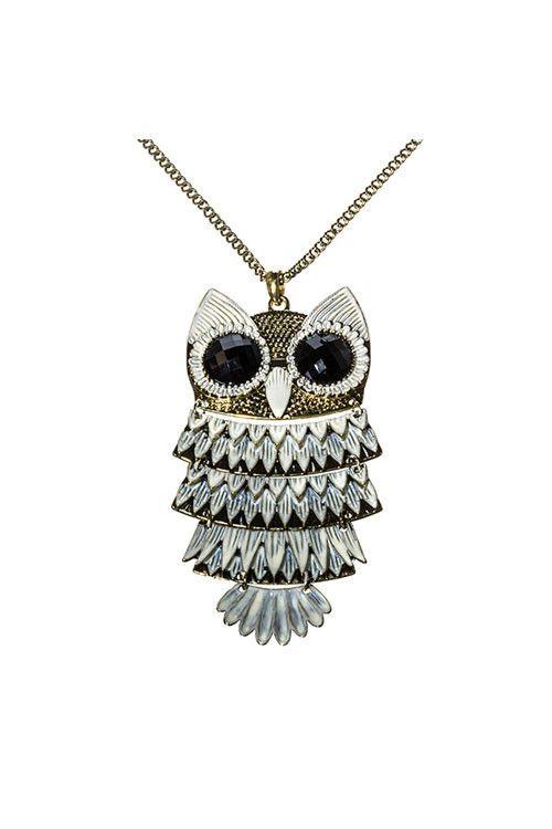 NEW! www.shopsimplyme.com  WISE ONE Owl Long Gold Pendant Necklace Shop Simply Me Boutique SMB – Simply Me Boutique